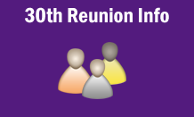 30th Reunion Information